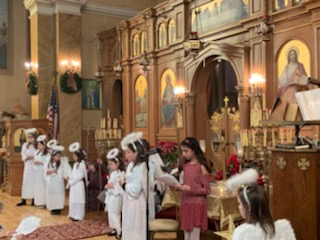 Christmas Greek School Children of the Holy Trinity Church of Lowell MA